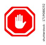 hands are prohibited from... | Shutterstock .eps vector #1719088252