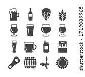 beer icon set  beer glasses ... | Shutterstock .eps vector #1719089965