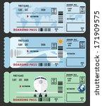 boarding pass  airline ticket  | Shutterstock .eps vector #171909575