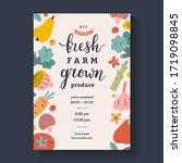 farmers market lettering poster ... | Shutterstock .eps vector #1719098845