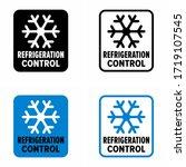 """refrigeration control""... | Shutterstock .eps vector #1719107545"
