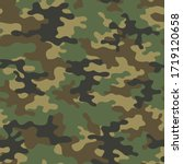 military camo seamless pattern. ... | Shutterstock .eps vector #1719120658