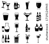 set of drinks icons  water ...   Shutterstock .eps vector #1719124945