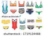 set of isolated one piece and... | Shutterstock .eps vector #1719134488