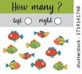 educational worksheet for... | Shutterstock .eps vector #1719141748