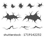 realistic cracks in the wall....   Shutterstock .eps vector #1719142252