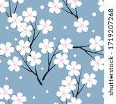 Seamless Of Cherry Blossom On...