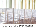 a lot of chairs indoors near...   Shutterstock . vector #1719210232