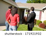 real estate  agent shows home... | Shutterstock . vector #171921932