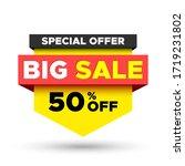special offer big sale banner.... | Shutterstock .eps vector #1719231802