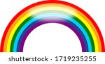 colorful rainbow icon on white...   Shutterstock . vector #1719235255