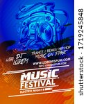 music party brochure electronic ...   Shutterstock .eps vector #1719245848