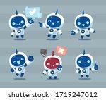 White Robot Mascot Character...
