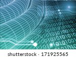 digital imagery with data... | Shutterstock . vector #171925565