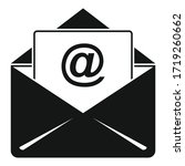 campaign email icon. simple... | Shutterstock .eps vector #1719260662