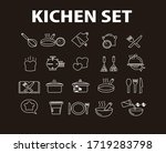 cooking line icons. boiling... | Shutterstock .eps vector #1719283798