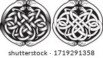 round celtic design with snakes ... | Shutterstock .eps vector #1719291358