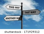 crossroad signpost saying this... | Shutterstock . vector #171929312