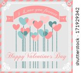 happy valentine's day greeting... | Shutterstock .eps vector #171929342