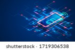 smart home connects to iot... | Shutterstock .eps vector #1719306538