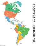 the americas  single states ... | Shutterstock .eps vector #1719310078