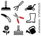 garden tool icon collection  ... | Shutterstock .eps vector #1719311125