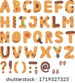 Abc  Font Graphic Cookies Set...