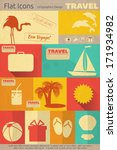 flat icons set   travel items... | Shutterstock .eps vector #171934982