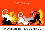 vector illustration. graceful... | Shutterstock .eps vector #1719375982
