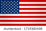united states flag. vector... | Shutterstock .eps vector #1719382438