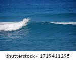 Bright Blue Sea Water With...