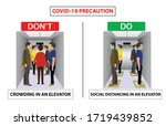 do and don't poster for covid... | Shutterstock .eps vector #1719439852