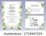 elegant floral wedding... | Shutterstock .eps vector #1719447235
