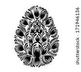 decorative floral silhouette... | Shutterstock .eps vector #171946136