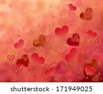 valentine's day background with ... | Shutterstock . vector #171949025