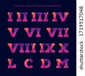 colorful gradient roman... | Shutterstock .eps vector #1719517048