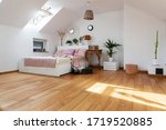 White Interior Of Bedroom With...