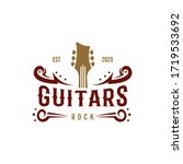 country guitar music western... | Shutterstock .eps vector #1719533692