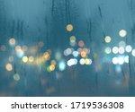 Blurred Light At Rainy Season...