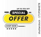 vector illustration of a sale... | Shutterstock .eps vector #1719584878