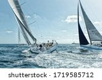 Race Of Sailing Yachts. Sails...