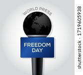 world press freedom day with... | Shutterstock .eps vector #1719605938
