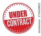 under contract sign or stamp on ... | Shutterstock .eps vector #1719628852