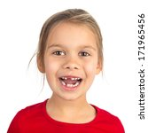cute young girl with several... | Shutterstock . vector #171965456