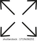 full screen icon. full screen...   Shutterstock .eps vector #1719658252
