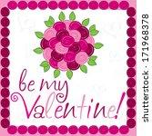 rose bouquet valentine's day... | Shutterstock .eps vector #171968378