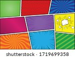 colored set of comic background....   Shutterstock .eps vector #1719699358