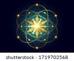 seed of life symbol sacred... | Shutterstock .eps vector #1719702568