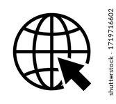 go to web icon vector. website...   Shutterstock .eps vector #1719716602