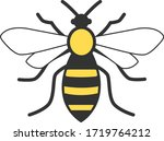 bee icon in trendy style design....